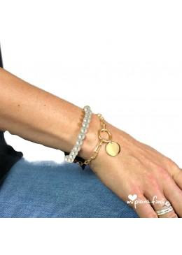 Necklace & Bracelet Pearl Gold