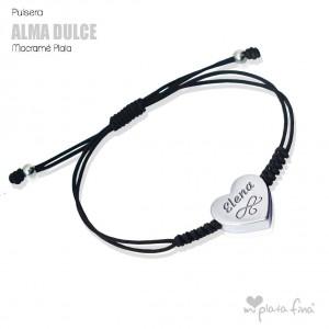 Pulsera Corazón Alma Plata