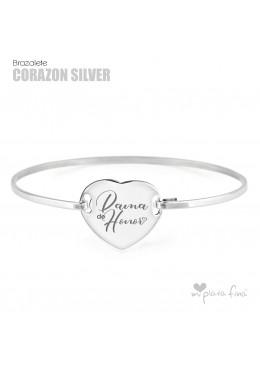 Brazalete Corazón Silver BODAS