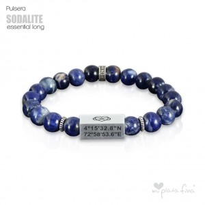 Pulsera Akasha Essential Long Sodalite Brillo BODAS