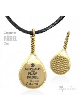 Colgante PÁDEL oro
