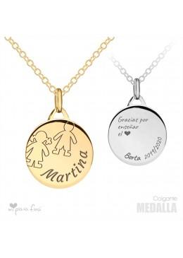 Necklace Silver Medalla VALENTINE'S DAY