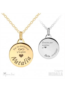 Necklace Silver Medalla VALENTINE'S DAY