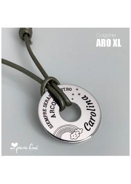 "Colgante ARO XL ""Regalo COMPARTIDO"" maestra"