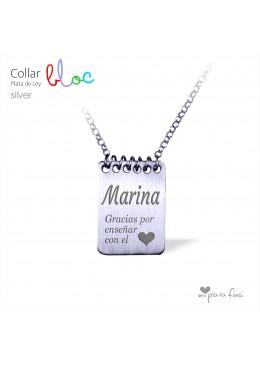 Collar BLOC Silver