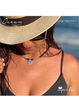 Collar OCEAN negro-ORO