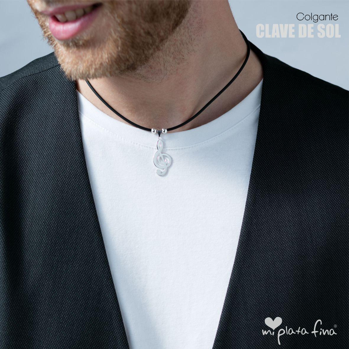 879106a23eb0 Colgante Collar Clave de Sol con Nombre Grabado