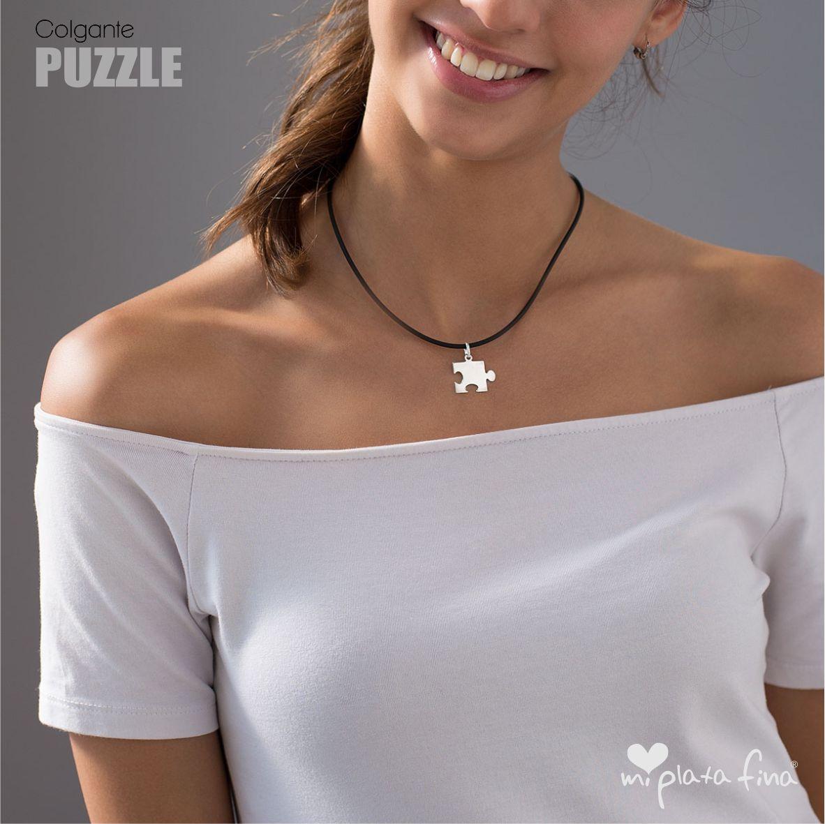 fecha de lanzamiento: buena calidad 60% de descuento Colgante + Collar Puzzle con Grabado Personalizado
